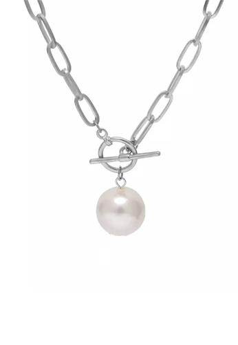 CELOVIS silver CELOVIS - Moonlight Pearl Toggle Clasp Necklace in Silver 4427FAC25780BBGS_1