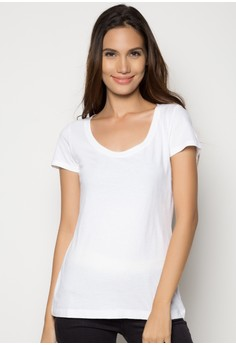 Women's SS Scoop Top