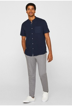 415165af4 ESPRIT Band Collar Shirt RM 199.90. Available in several sizes