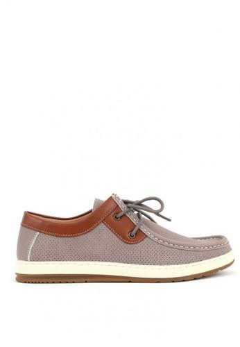 World Balance grey Caleb Loafer Shoes 990B3SHB53255AGS_1