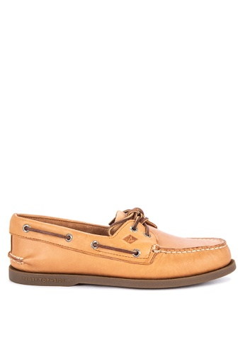 Sperry brown A/O 2-EYE Boat Shoes SP921SH91ADWSG_1