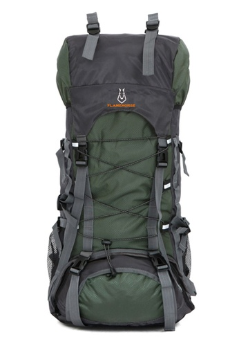 Jackbox green FlameHorse Steel Support Camping Travelling Hiking Backpack 60L 154-Army Green 4AB39ACE97C31CGS_1