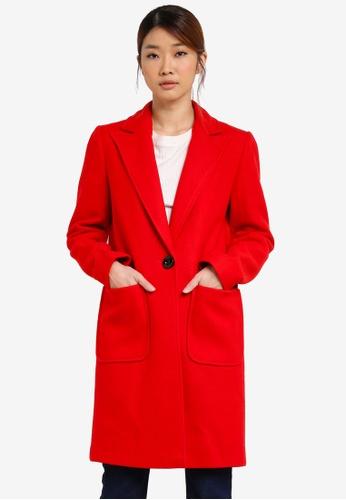 Miss Selfridge red Statement Duster Coat MI665AA0SHVBMY_1