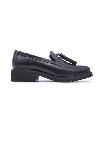 Flatss & Heelss by Rad Russel black Loafer with Tassels - Black D30DASH4371DE7GS_1