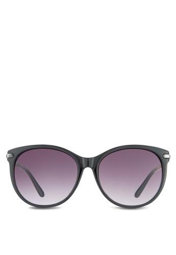 NUVEesprit outlet 台灣AU 立體紋理圓框太陽眼鏡, 飾品配件, 飾品配件