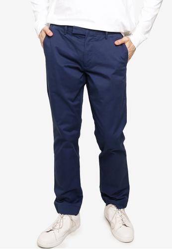 polo ralph lauren navy Stretch Military Flat Pants 70677AA4E3B22AGS_1