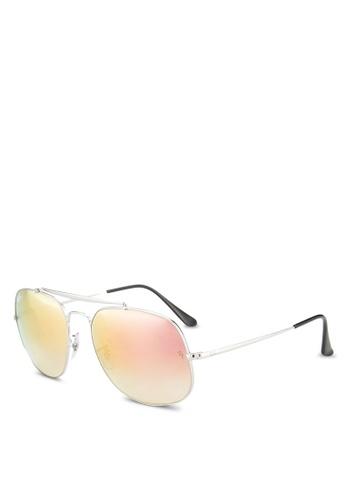 Ray-Ban silver General RB3561 Sunglasses RA896GL03GRCMY_1