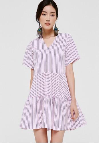Love, Bonito pink Keva Printed Babydoll Dress 5514CAAB3D09A9GS_1