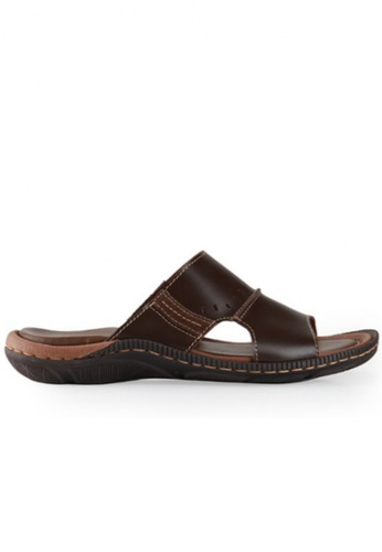 Gino Mariani brown Gino Mariani Men's Leather Sandals ENRIQUE  - DK BROWN 66796SH7EA89F6GS_1