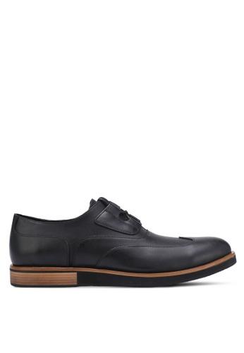 ZALORA black Contemporary Faux Leather Dress Shoes AD552AA557083FGS_1