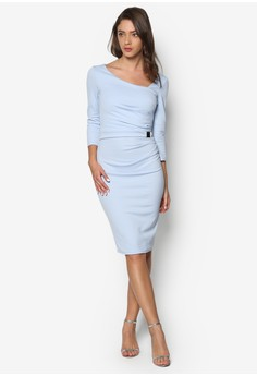 Buckle Waist Midi Dress