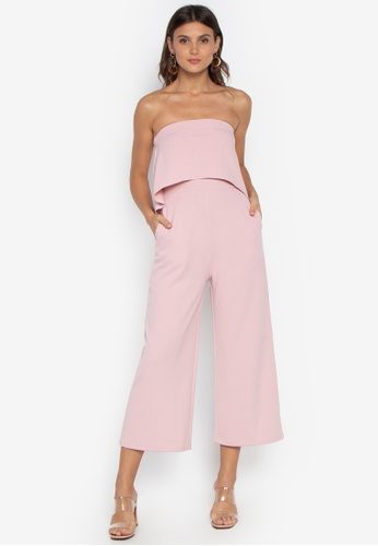 05abb1bbda7 Shop Pois Tube Top Wide Leg Jumpsuit Online on ZALORA Philippines