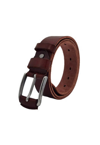 EXTREME brown Extreme Full Grain Men's Leather Belt (40mm) A66FBACBAFB05FGS_1