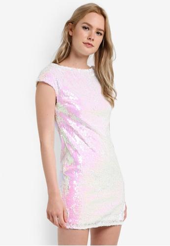 Miss Selfridge white Sequin Tea Dress MI665AA92DEDMY_1