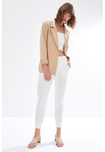 DeFacto beige Woman Knitted Trousers C2C62AA6DF00B7GS_1