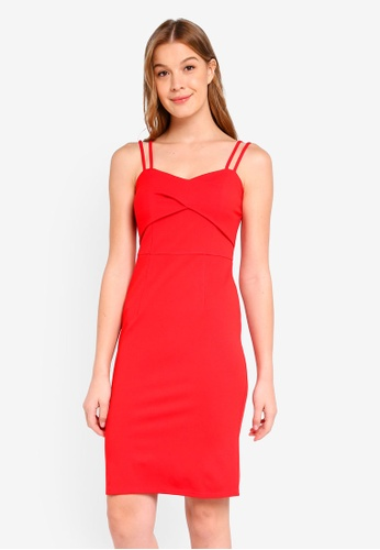 ae96e4968385 Buy Dorothy Perkins Pleat Front Strappy Bodycon Online on ZALORA ...