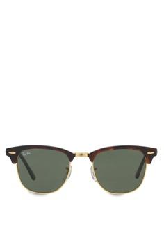 8767b588327 Ray-Ban brown Clubmaster RB3016 Sunglasses RA370GL61RZMSG 1