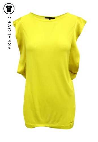 Gucci yellow Pre-Loved gucci Yellow Top with Silk Sleeves 6C248AA1F95A83GS_1
