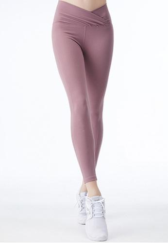 Trendyshop 粉紅色 高彈柔軟健身長褲 B26F7USE10DB12GS_1