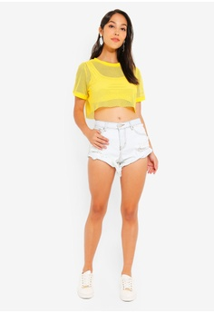 599a5a34598 30% OFF Glamorous Frayed Denim Shorts RM 201.90 NOW RM 141.90 Sizes XS S M L