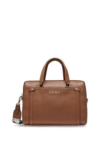 DKNY brown DKNY Women Beca Satchel 0BE12AC7A3A626GS_1