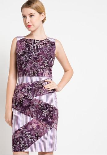 Bateeq purple Sleeveless Cotton Print Dress BA656AA17DNQID_1