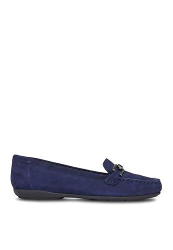 Geox blue Annytah Moccasins 5124BSH52623A1GS_1