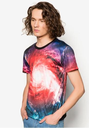 宇宙銀河esprit分店圖圓領TEE, 服飾, 印圖T恤