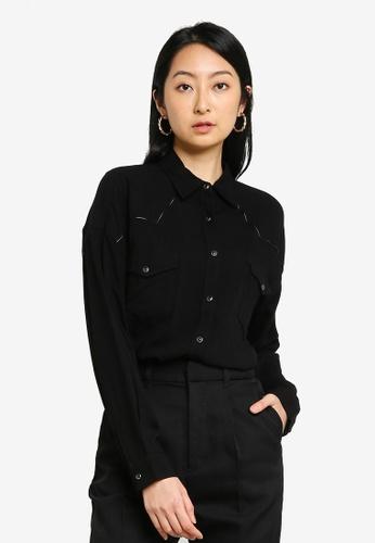 niko and ... black Piping Pockets Shirt AF71EAA0387A2DGS_1