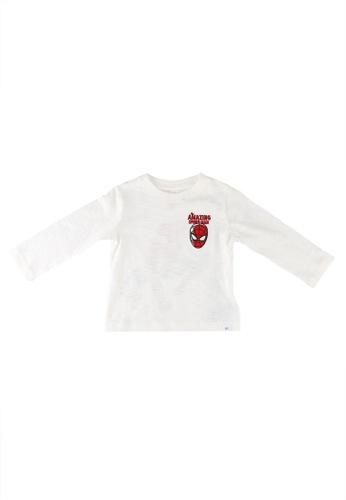 GAP white Marvel Graphics T-shirt 787CEKA67D1BE8GS_1