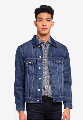 MANGO Man blue Dark Wash Vintage Denim Jacket 8CDC6AAF818D44GS_1