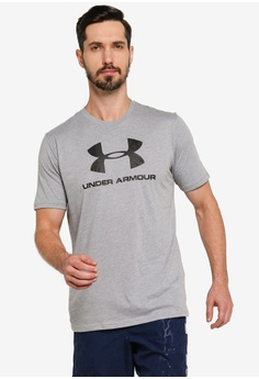 88722ba8fefcdd Under Armour grey Sportstyle Logo Short Sleeve Tee A3B30AAC6FF98CGS 1