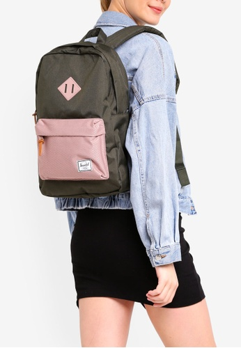 Herschel pink and green Heritage Mid-Volume Backpack 3F5B5AC9C9AA8FGS_1