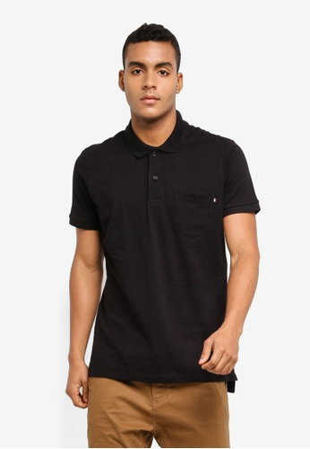Cotton On black Icon Polo Shirt 95F4BAA6AB4663GS_1
