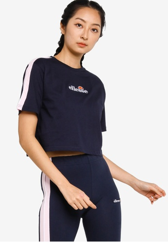 ellesse navy Amarillo Crop T-Shirt F023DAAB5957BBGS_1