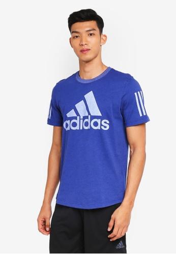 adidas blue adidas m sid logo tee 72E8DAAF5E3189GS_1