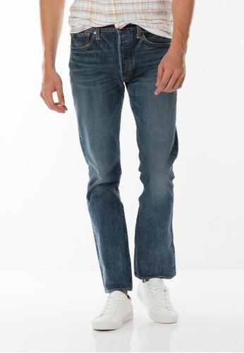 Levi's blue Levi's 501 Original Fit Warp Stretch Jeans (Blue) LE815AA0SBCHMY_1