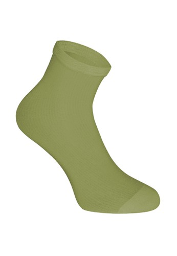 SOXGALERI green Candy Socks F6A60AAA1EB375GS_1