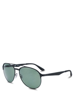 61ab01d24d5232 Ray-Ban black Ray-Ban RB3606 Sunglasses A05D2GL185D886GS 1