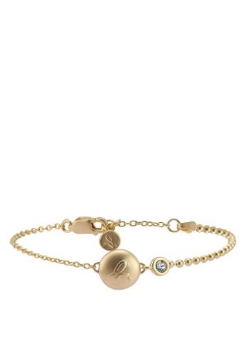 agnès b. gold Diamante Button Bracelet BF876AC1E451DAGS_1