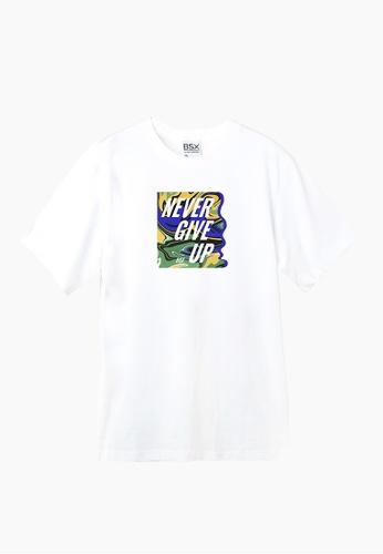 BSX white BSX Unisex's regular fit printed tee (Online exclusive) C54B9AAD8FBC4BGS_1