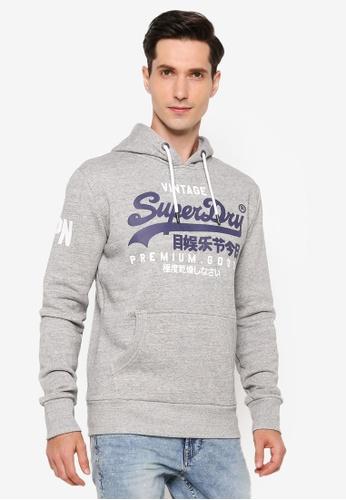 SUPERDRY grey Vintage Logo Hood - Original & Vintage 60496AA0318EDCGS_1