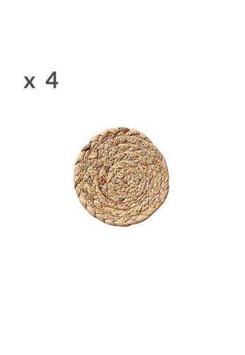 DILAS HOME 4x 11cm Round Straw Coaster 930ACHLC4E7C03GS_1