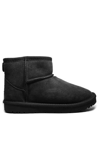 Twenty Eight Shoes 黑色 真皮經典短靴雪地靴UUD01 5AAD4SH9F1E155GS_1
