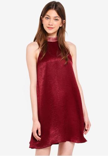 Something Borrowed pink High Neck Swing Mini Dress 41169AA82C483BGS_1