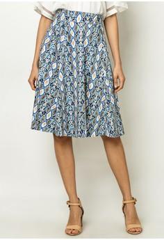 Shanti Midi Circle Printed Skirt