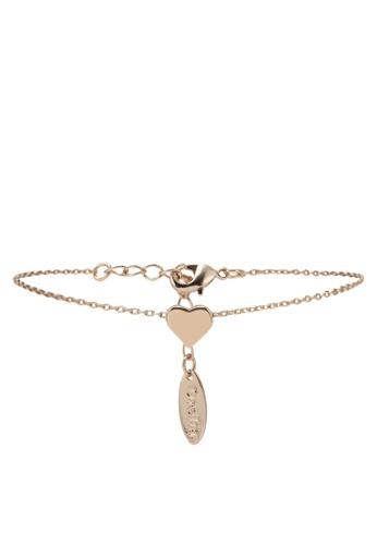 Orelia London gold Thread Thru Heart Chain Bracelet OR747AC0SC50MY_1
