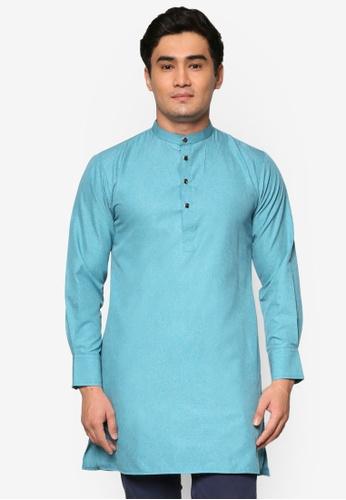 Murzaman blue Kurta Salam MU501AA62DJHMY_1