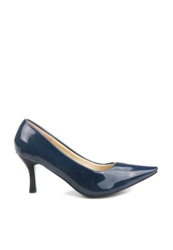 KissXXX 藍色 低反發舒適感美腿效果7CM小尖頭高跟鞋 KI603SH09MPZTW_1