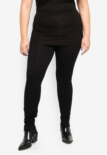 Junarose black Plus Size Raz Leggings 46DB2AA47A9784GS_1
